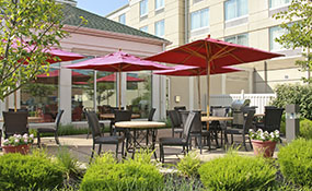 outdoor patio and fire pit at hilton garden inn wilkes barre pa - Hilton Garden Inn Wilkes Barre